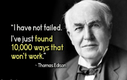 Thomas Edison and Learning from failure